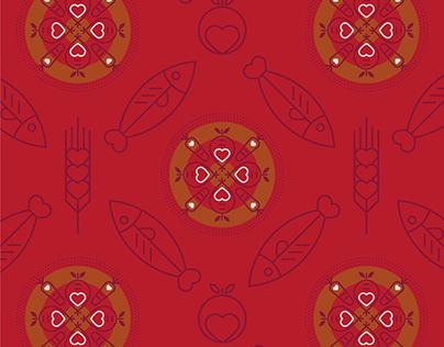 Textile Print Design - World Hunger