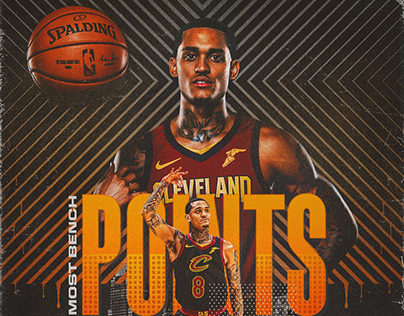 2018-19 Cleveland Cavaliers Player Achievement Graphics