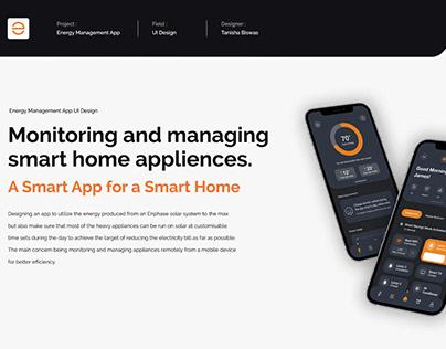 Energy Management App | UI UX Design
