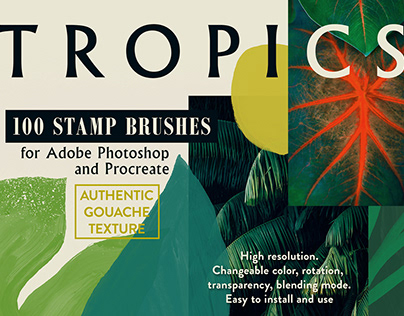 Tropics Photoshop Stamp Brushes By:Struvictory.art