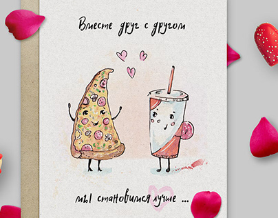 Posrcard in love