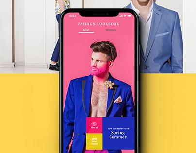 Fashion Lookbook mobile app design