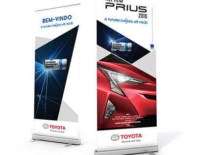 Banners para evento automotivo.