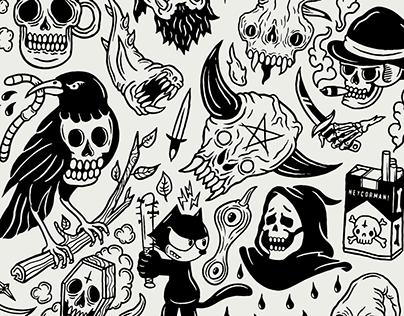 Tattoo Flash Sheet Vol. 3