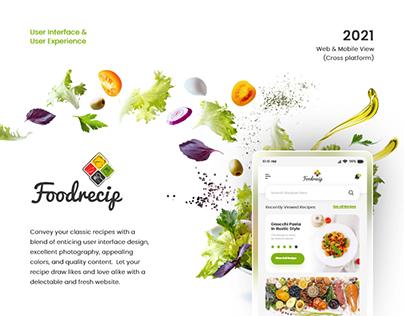 Foodrecip Concept - UI/UX Design - Teksun Inc