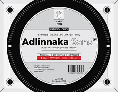 Adlinnaka Sans -Geometric Sans Serif Font Family