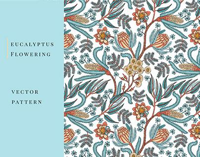 Eucalyptus and protea pattern
