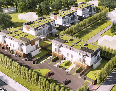 Five residential buildings