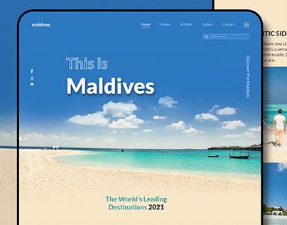 Maldives - Web design concept