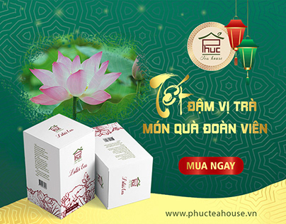 Phuc Tea house Tet Banner Design