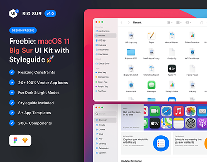 macOS Big Sur UI Kit (Freebie)