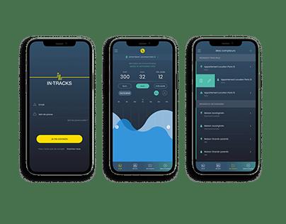 Mobile Design de l'application In-Tracks