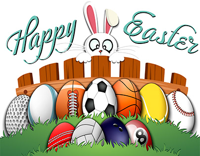 Easter sports illustrations and more