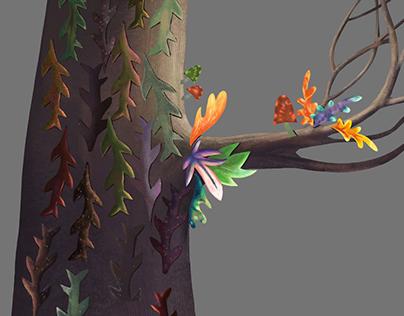 Deer Little Forest - Background Art