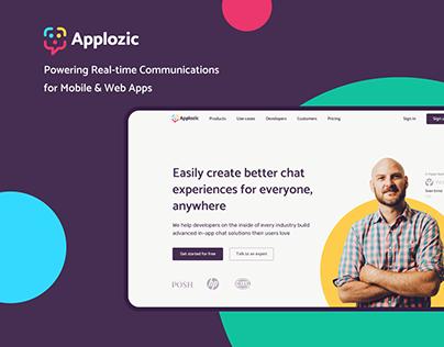 Applozic | Corporate site redesign and rebranding
