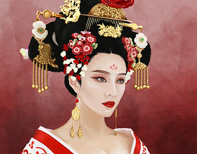 The Empress of China - Digital Painting