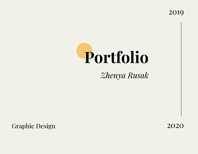 Portfolio. Graphic design 2019-2020