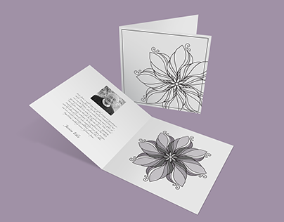 Mourning Card Design - Mockup