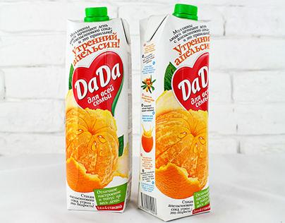 Packaging design for Dada Morning orange juice