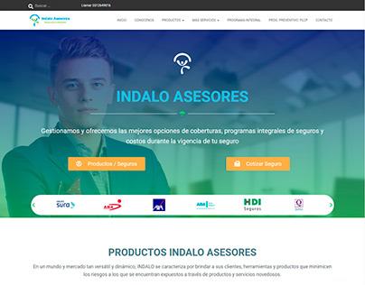Indalo Asesores   Diseño de sitio web