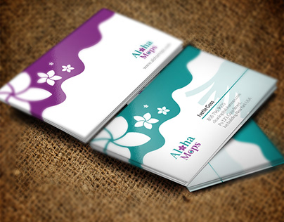Aloha Mops Cleaning Business Card