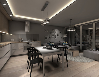 Project 60m2 apartment Gdynia Wiczlino - Part 2