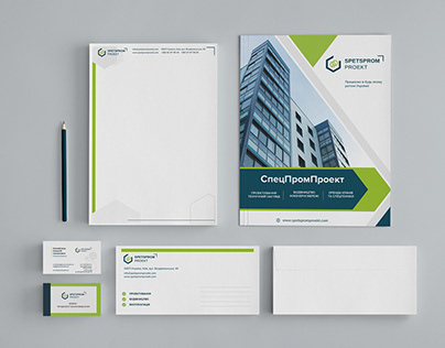 Brand identity for build company. Фирменный стиль
