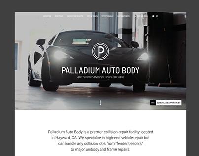 Лендинг автомастерской Palladium Auto Body