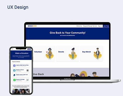 BRIDGEGOOD - Donation Page Design