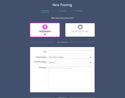 Looksharp Self-Serve Posting Experience Redesign