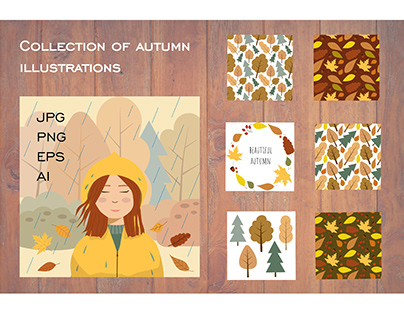 Collection of autumn illustrations