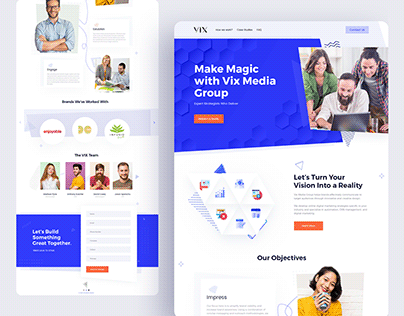 VIX Digital Agency Landing Page
