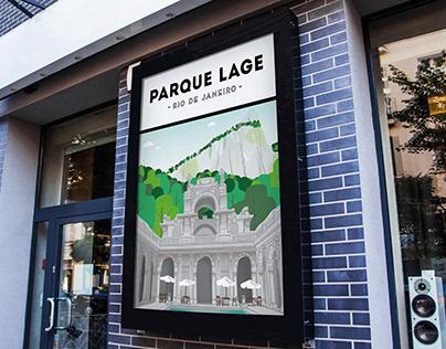 Parque Lage Illustration