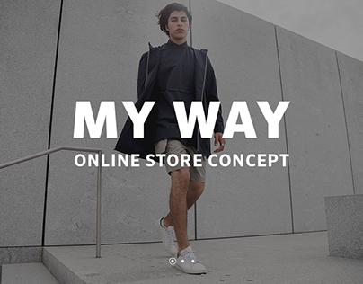 MY WAY. Web design concept
