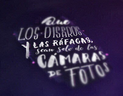 Canon Colombia - Lettering