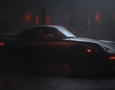 Octane + Porsche's 911 GT2RS + Moody Lighting =