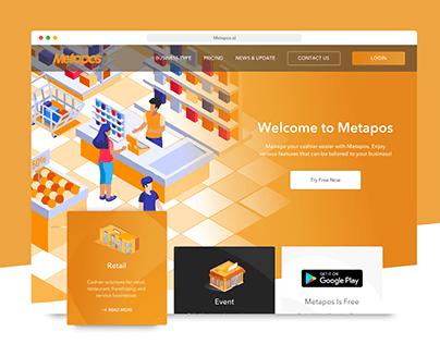 Metapos Website UI / UX design