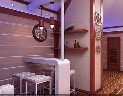 Варианты оформления мансардного этажа Attic Floor Desig