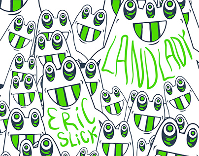Landlady 12 x 18 silk screen poster