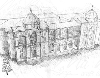 Three Point Perspective - Architectural Illustration