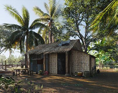 Rural South-West Vietnam-Sketchup-Enscape Render