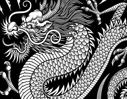 Dragon Scarf illustration