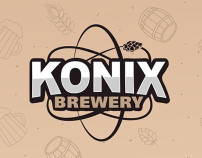 Konix Brewery / Логотип крафтовой пивоварни