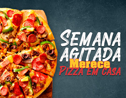 Cards para redes sociais pizzaria