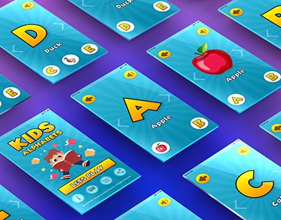 Kids English Alphabets App Design
