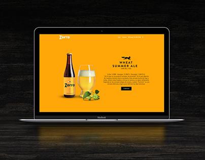 Cerveza Zorra Website