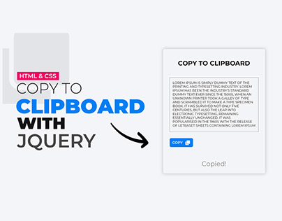 COPY TO CLIPBOARD WITH JQUERY