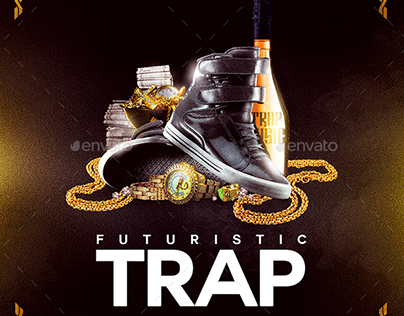 Futuristic Trap | Mixtape Album CD Cover Template