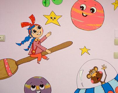 مشروع رسم وتلوين الغرفة الترفيهية للأطفال بمستشفى سموحه