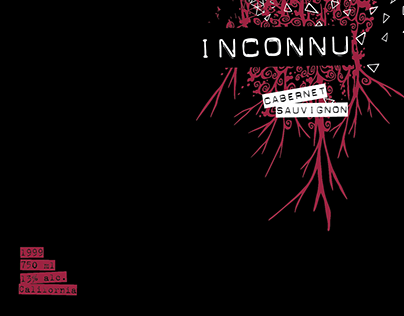 INCONNU - Wine Label Design